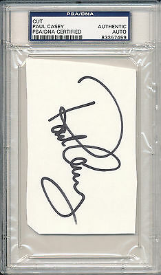PSA/DNA SIGNED CUT  PAUL CASEY   i7459