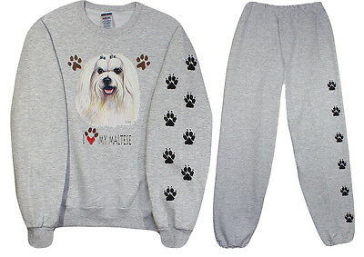 MALTESE sweat shirt and sweat pants S, M, L, XL