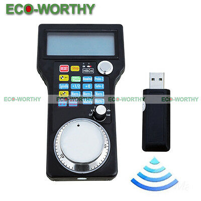 Wireless Electronic Handwheel MPG Pendant for USB CNC 3/4 Axis Engraving US