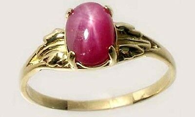 Antique 19thC 2¾ct Star Ruby Medieval Shaman Divination Gemstone 18kt Gold Ring