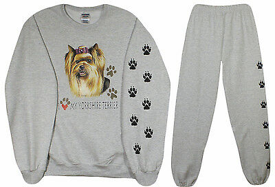 YORKSHIRE TERRIER sweat shirt and sweat pants yorkie