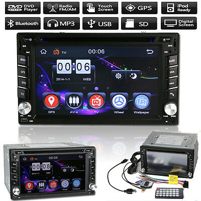 GPS Sat Nav + Head Unit Car MP3/USB/SD/AUX/IPOD DVD Player Bluetooth TV FM Radio