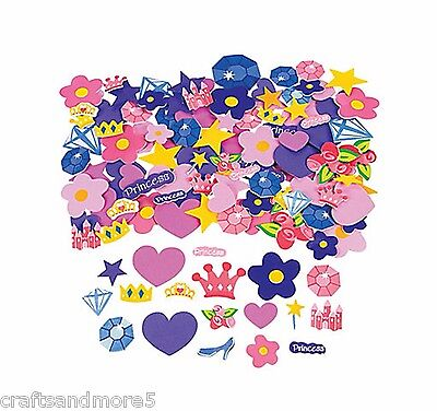 25 x FOAM PRINCESS STICKERS ~ 25mm-55mm ~ GREAT FOR DECORATING ~ NEW
