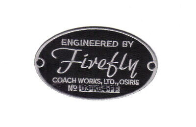 Firefly / Serenity Engineered By Firefly Coach Works Logo Embroidered Patch, NEW