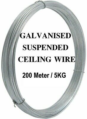 GALVANISED COIL SUSPENDED CEILING WIRE 150Meter LONG 4KG HANGING SUSPENSION 2MM