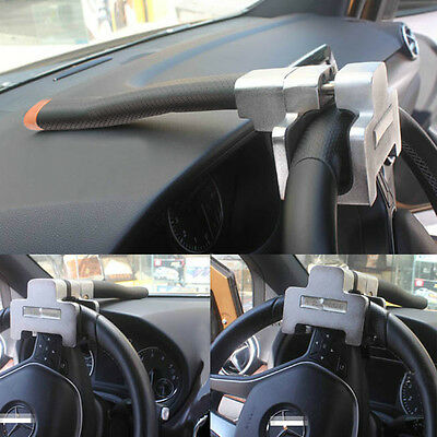 Vehicle Car Top Mount Steering Wheel Anti Theft Security Lock With Keys Devices