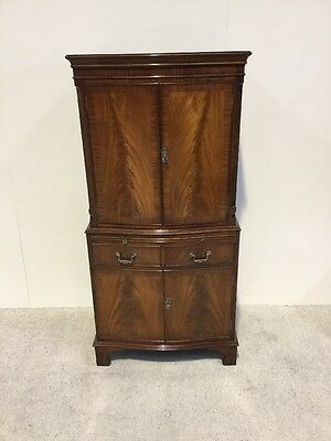 Antique Mahogany Bevan And Funnell Cocktail Cabinet 4 Door Superb Quality