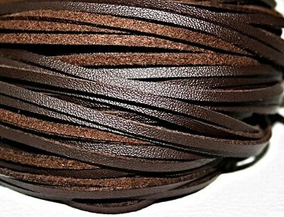 BROWN LEATHER Shoe and Boot Laces different lengths available