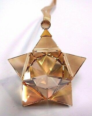 Ornaments swarovski decorative collectible brands for Small gold christmas ornaments