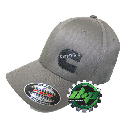 Cummins hat ball cap fitted flex fit flexfit stretch cummings dark gray grey  l x a98b9b62e19b