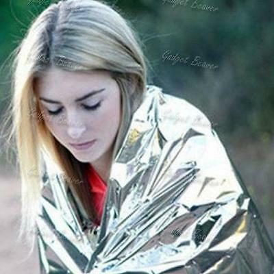 Emergency Blanket,Foil Space Thermal Cover,Survival First Aid Rescue,Waterproof