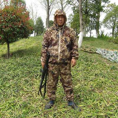 HOT Camouflage Clothing Jungle Hiding Clothes Hunting Camo Suit Jacket + Pants