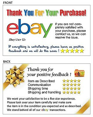 100 Thank You business card for Ebay Seller FREE SHIPPING your ebay ID writable.