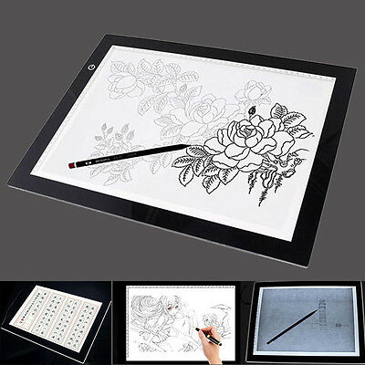 A3/A4 LED Grafiktablett Touchpad Stift-Tablet Tracing Animation Skizze EC 05 DE