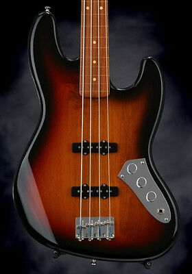 Fender Jaco Pastorius Fretless Jazz Bass 3-Color Sunburst 4-string Electric Bass