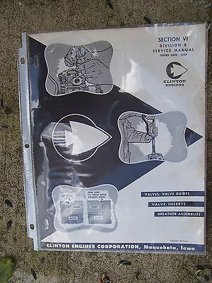 1959 Clinton Engines Service Manual Section VI Division C Bearings Seals Lube  G