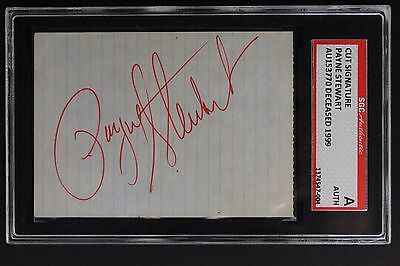 Payne Stewart (d.1999) Golf Pro Autographed Signed 3x5 Cut Red Ink SGC