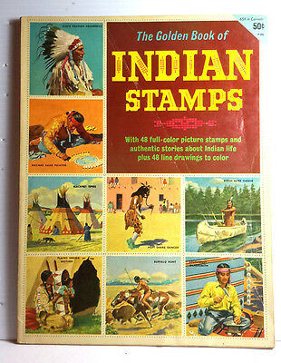 1954 Golden Book of INDIAN STAMPS #P-13- Used-FREE S&H (C6521)
