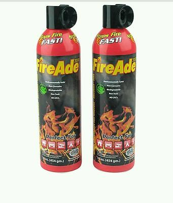 Fire Ade 2 Pack 16oz.Fire Extinguisher Home Shop Garage tools Safety