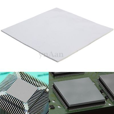 100mm x 100mm 2mm Thick Thermal Heatsink Transfer Pad Double Sided Adhesive Grey