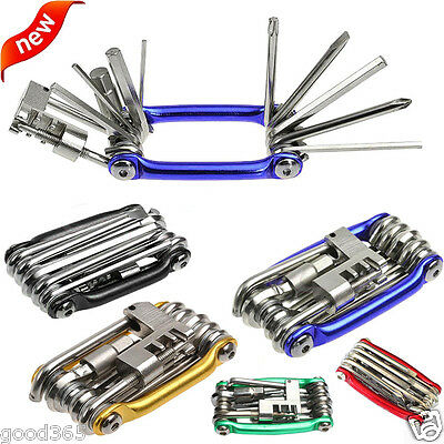 11 in 1 Multi-function Bike Bicycle Wrench Chain Cutter Repair Tools Kit Useful