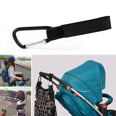 4 x Universal Mummy Buggy Clip Pram Pushchair Stroller Hook Shopping Bags Holder