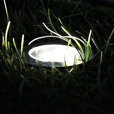 Solar Powered LED Buried Inground Recessed Lights Garden Outdoor Deck Path 10pcs