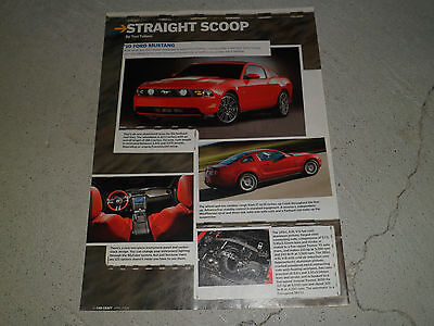 2010 FORD MUSTANG article / ad