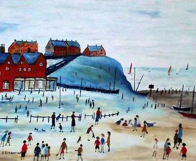 ORIGINAL Northern Art  OIL PAINTING by JIM GLENNIE The Beach 3