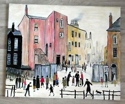 ORIGINAL Northern Art  OIL PAINTING by JIM GLENNIE The Old Houses