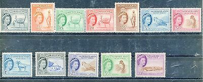 Somaliland  Scott#128/39   Mint Hinged Original Gum As Shown