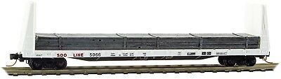 Micro-Trains MTL N-Scale 61ft Bulkhead Flat Car Soo Line White w/ Load #5069