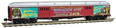 Micro-Trains MTL N-Scale 70ft Heavy Baggage Car Ringling Bros. Big Cats/Tiger