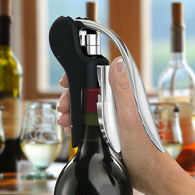 Rabbit Style Corkscrew Wine Bottle Lever Opener Foil Cutter Tool JMHG