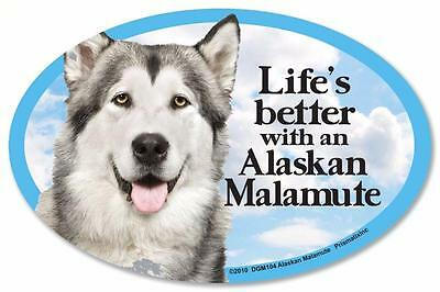 Life's Better With An Alaskan Malamute Dog Car Fridge Plastic Magnet