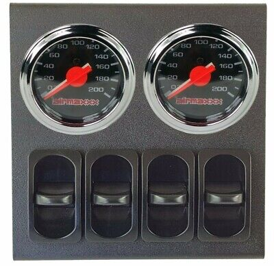 2 Dual Needle Air Gauges & 200psi Display Panel 4 Paddle Switches Air Suspension