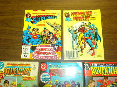 5 THE BEST OF DC COMICS BLUE RIBBON DIGEST ADVENTURE SUPERMAN WORLD'S FINEST lot