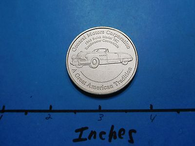 1949 Buick Model 76C Roadmaster Convertible Gm Proud 999 Silver Coin Rare