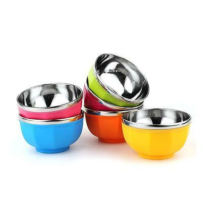 13CM New Drop Resistance Double Layers Heat Insulation Stainless Steel Kids Bowl
