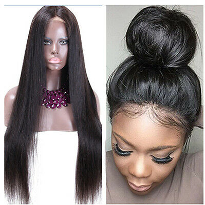 Women's New Brazilian Lace Front Wig Human Hair Natural Straight Hair Extensions