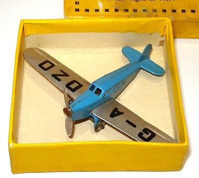 Dinky Pre-War No. 60K Percival Gull Monoplane Ultra Rare H.l. Brook - Yellow Box