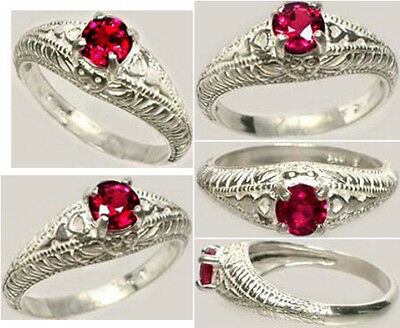 19thC Antique ½ct+Nr Flawless Ruby Ancient Asian Warrior Invulnerable Invincible