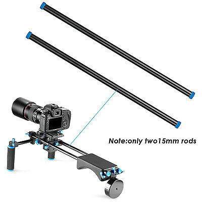 Neewer 2 pieces 15.7inch/40cm Long 15mm Shoulder Supporting Rod
