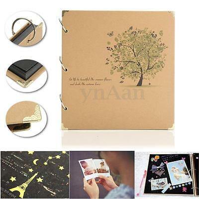 DIY Retro Photo Album Scrapbook Diary Notebook Stamping Handmade Gift 30Pages
