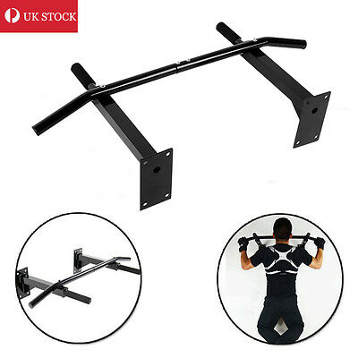 Wall Mounted Chin Up Pull Up Bar Trainer Power Training Gymnastic Suspension UK