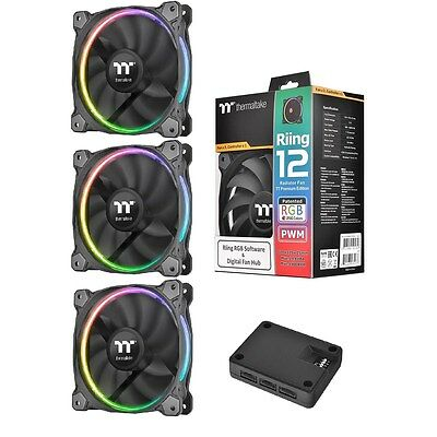 Thermaltake Riing12 LED RGB Premium Edition - 3 x 120mm Fans