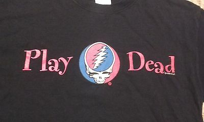 *RARE* GRATEFUL DEAD 1999 PLAY DEAD Shirt Steal Your Face Logo-GDP-FREE SHIPPING