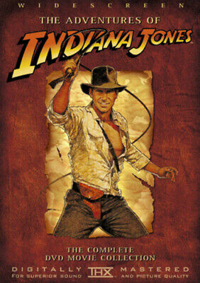 Indiana Jones Trilogy DVD (2003) Harrison Ford, Spielberg (DIR) cert PG 4 discs