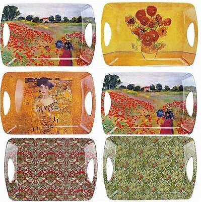 Leonardo Collection Melamine Large Lap Tray Santa Sunflower poppy lily Klimt