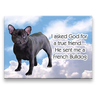 FRENCH BULLDOG True Friend FRIDGE MAGNET No 4 DOG Frenchy
